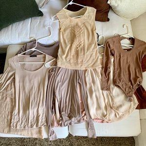 12 pc NUDE Tops, XS Zara, BCBGMAXAZRIA, Brandy Mel